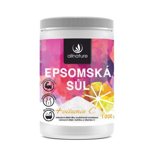 Allnature Epsomská sůl Vitamín C 1000 g