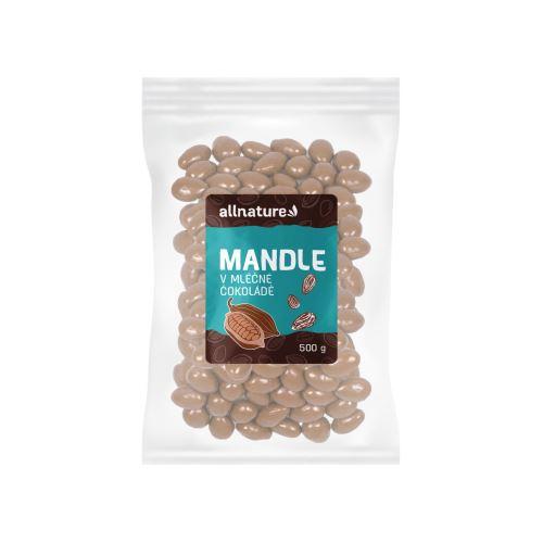 Allnature Mandle v mléčné čokoládě 500 g