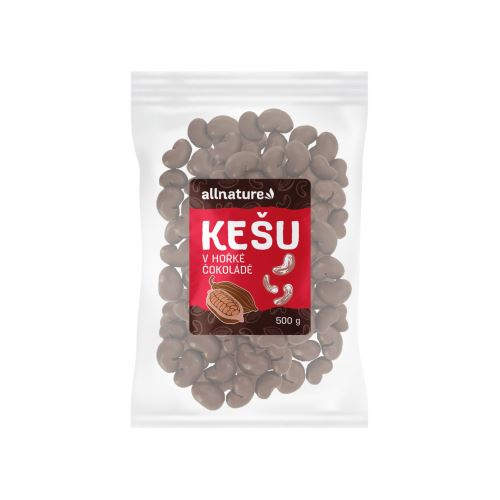 Allnature Kešu v hořké čokoládě 500 g