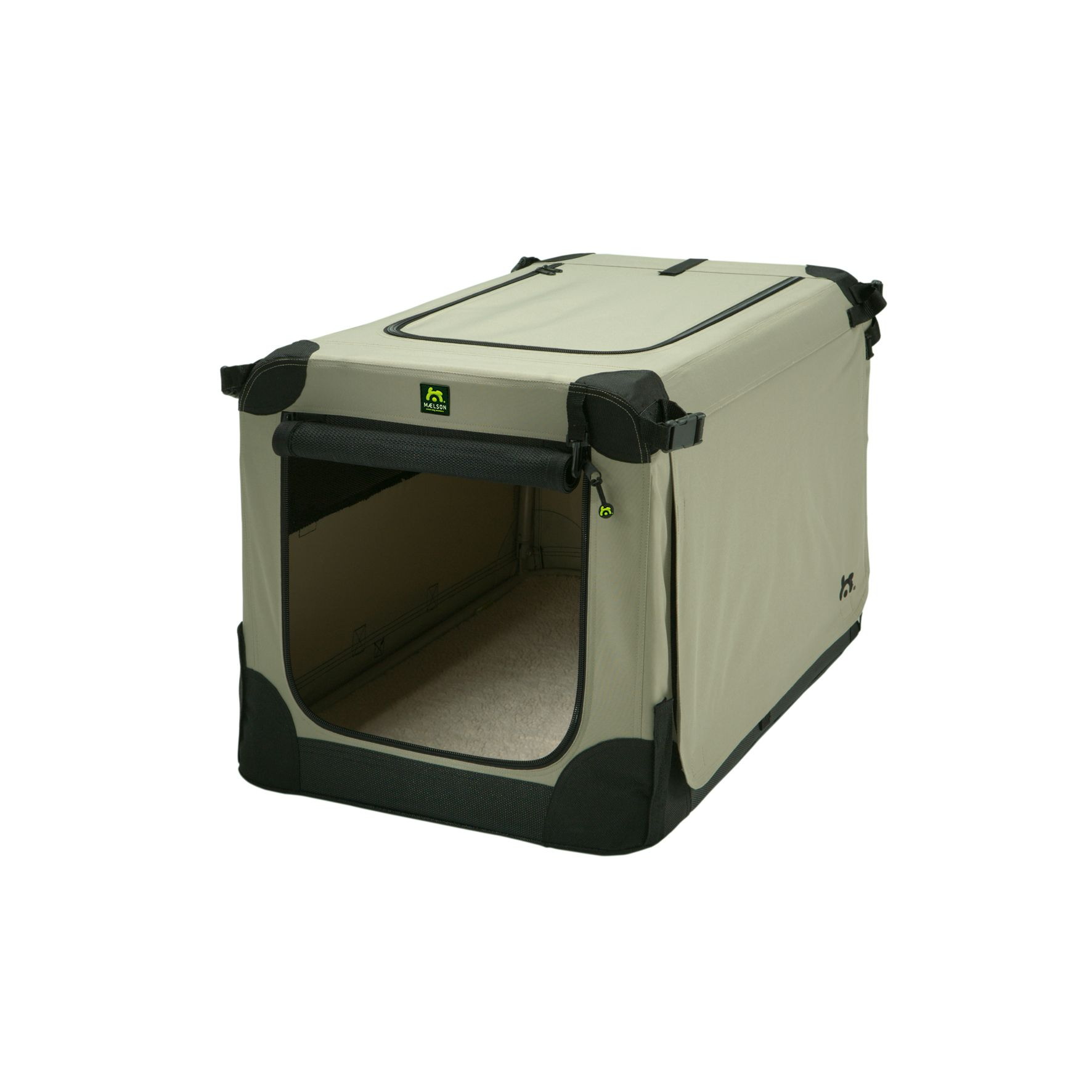 Přepravka pro psy Maelson - černo-béžová - M, 72x51x51 cm