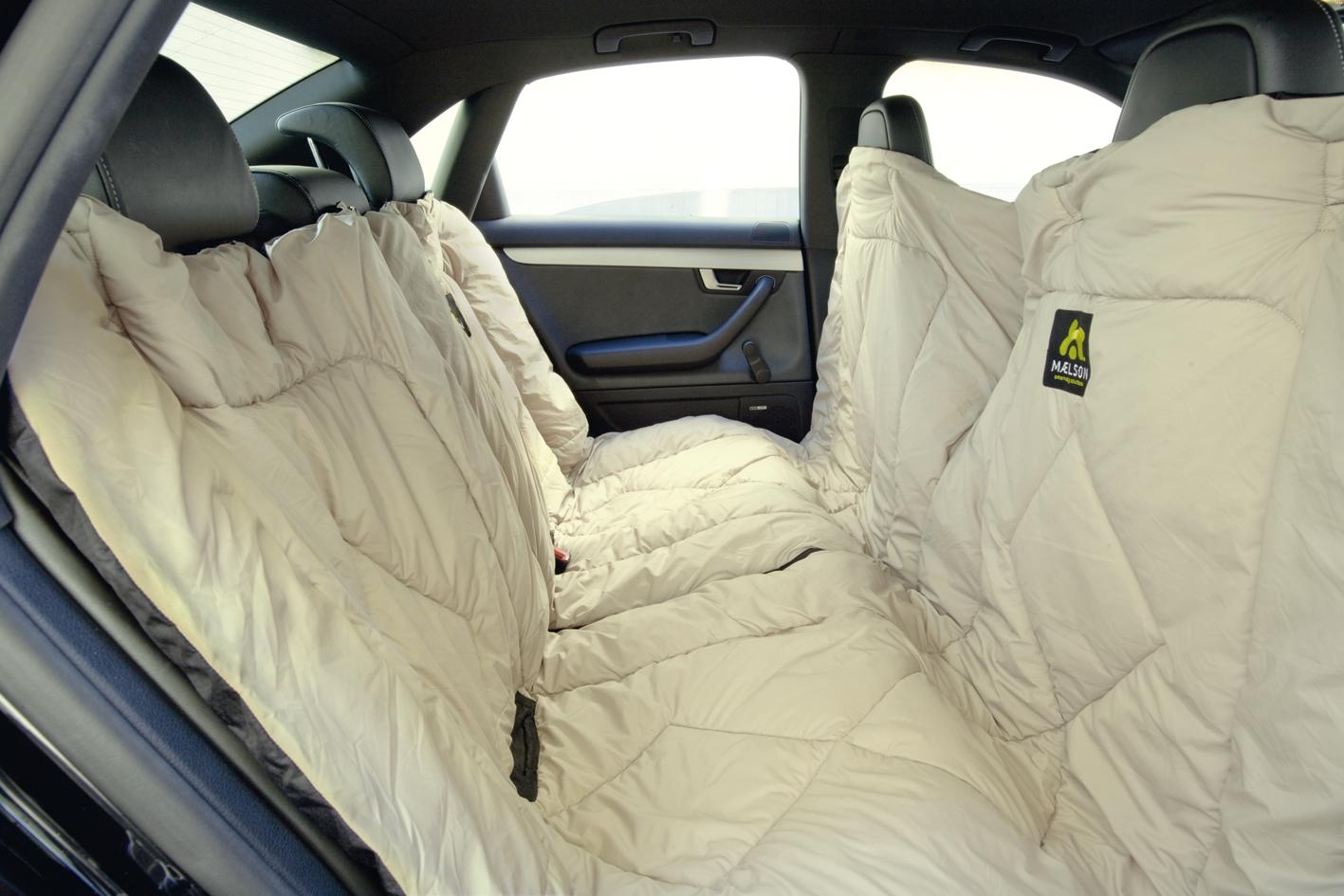 Maelson Cosy Roll Cestovní deka - autopotah černo-béžový, 200x150 cm