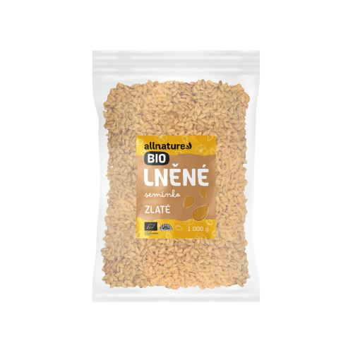 Allnature Lněné semínko zlaté BIO 1000 g