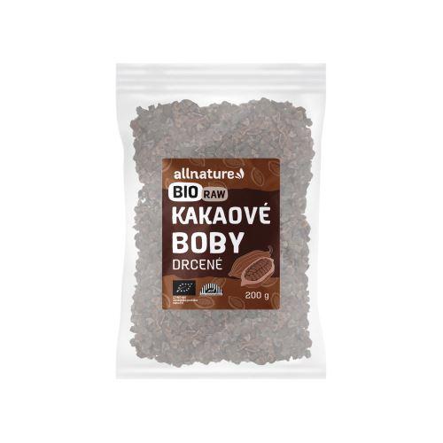 Allnature Kakaové boby drcené BIO RAW 200 g