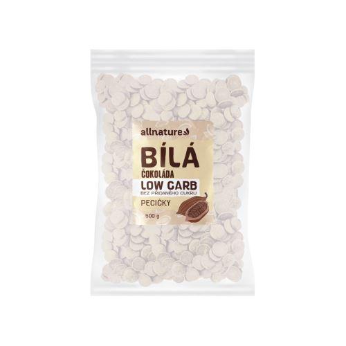 Allnature LOW CARB Čokoláda bílá pecičky 500 g