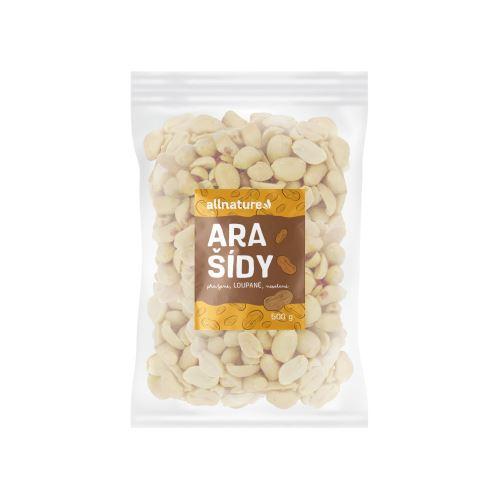 Allnature Arašídy pražené loupané nesolené 500 g