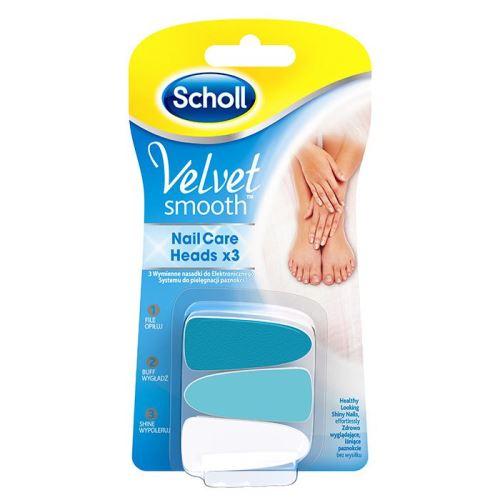 Scholl Velvet Smooth Nail Care Náhradní hlavice 3 kusy