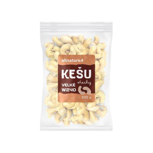 Allnature Kešu ořechy Velké w240 500 g
