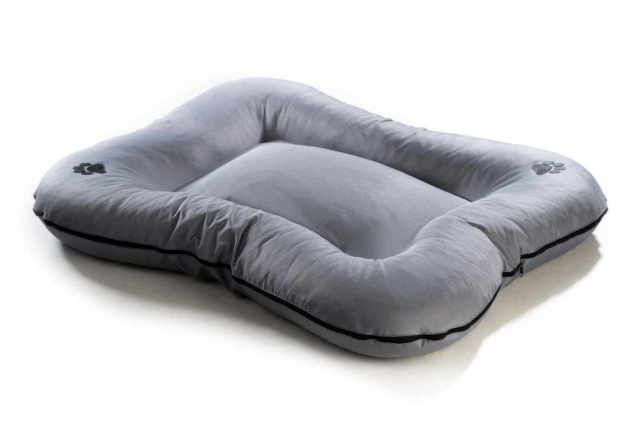 Matrace pro psa z polyesteru - šedá - 110 x 90 cm