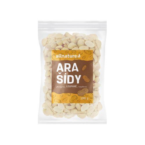 Allnature Arašídy pražené loupané nesolené 100 g