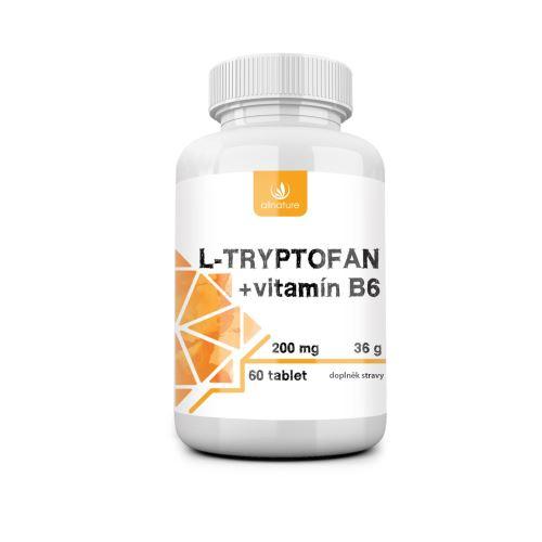 Allnature L-tryptofan + vitamín B6 200 mg 60 tbl.