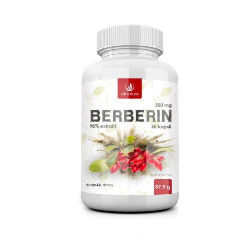 Allnature Berberin extrakt 98% 500 mg 60 cps.