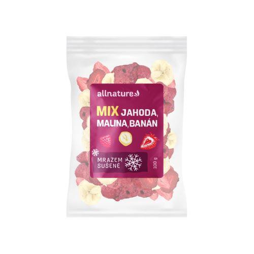 Allnature Mix lyofilizovaného ovoce - jahoda, malina, banán 100 g