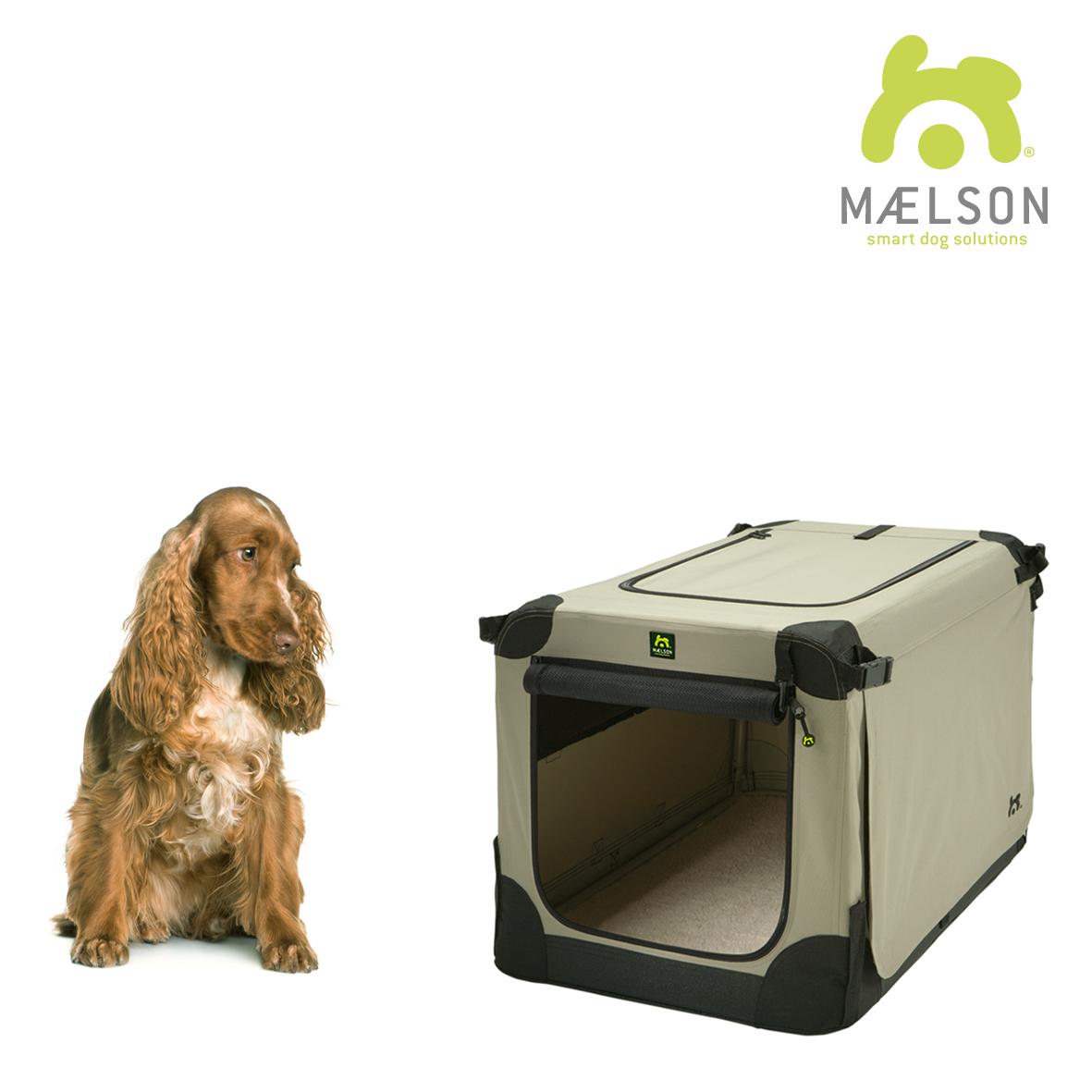 Přepravka pro psy Maelson - černo-béžová - L, 82x59x59 cm