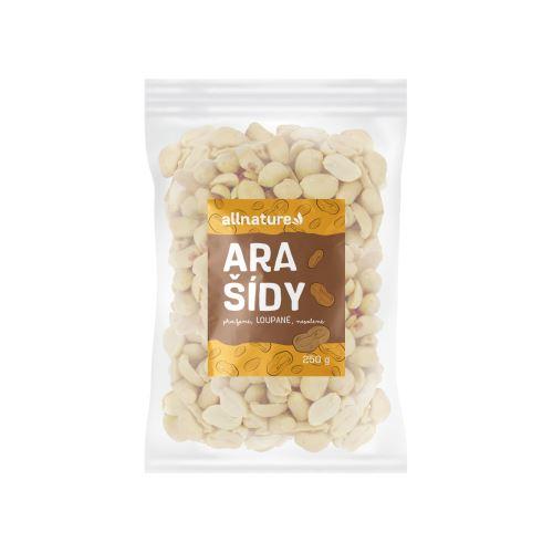Allnature Arašídy pražené loupané nesolené 250 g