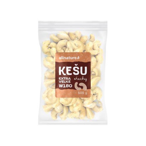 Allnature Kešu ořechy Extra Velké w180 500 g