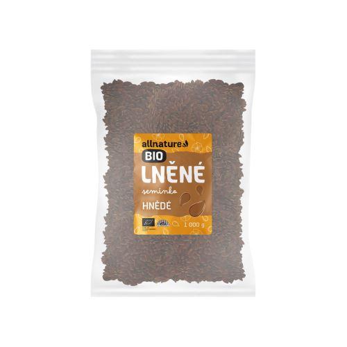Allnature Lněné semínko hnědé BIO 1000 g