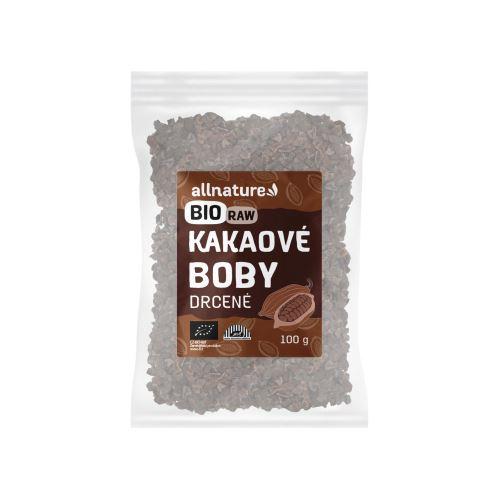 Allnature Kakaové boby drcené BIO RAW 100 g